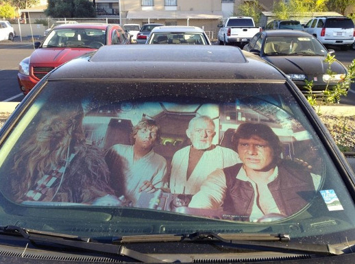 star wars car sunshade cool stuff dude. Black Bedroom Furniture Sets. Home Design Ideas