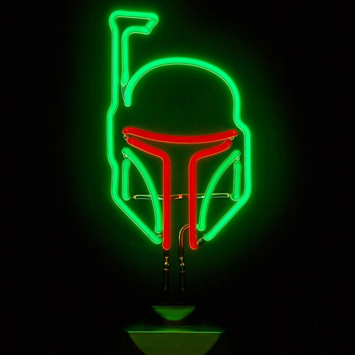 Star Wars Boba Fett Neon Sign Cool Stuff Dude