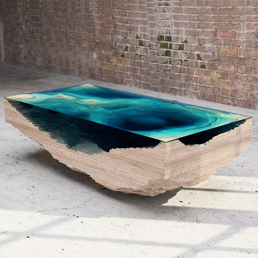 wave city coffee table | cool stuff dude