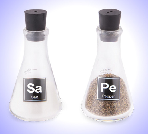 Lab flask salt pepper shakers cool stuff dude - Chemistry salt and pepper shakers ...