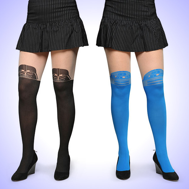 Star Wars Faux Thigh Hi Tights Cool Stuff Dude
